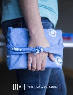 DIY Inkodye Furoshiki iPad Clutch Wrap