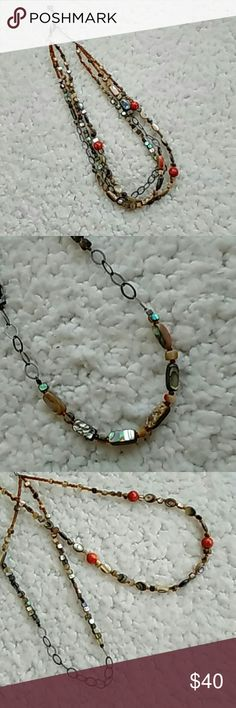 """✨Stone & Bead Necklace✨ ✨Stone & Bead Necklace✨  ☀Gorgeous 3 strand stone & beaded necklace ☀19"""" with 1"""" extender Boutique Jewelry Necklaces"""