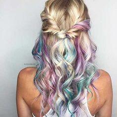 10. Lila Meerjungfrau-Frisur