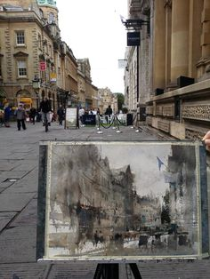 Plein air Bristol, England. watercolor demo by 簡忠威 (Chien Chung-Wei)