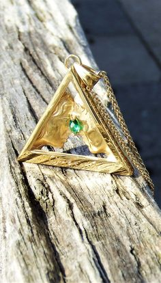 This is the Gold Woman to Man onesoul pendant with an Emerald Marquis Gemstone Gold Pendants, Marquis, Emerald, Brooch, Gemstones, Woman, Silver, Jewelry, Fashion