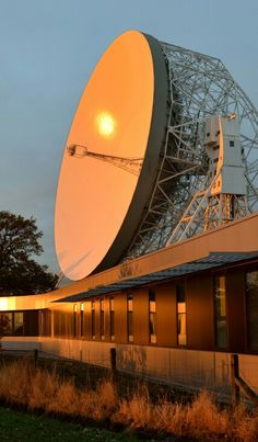 The Lovell Telescope - looking gleaming with its recently resurfaced dish