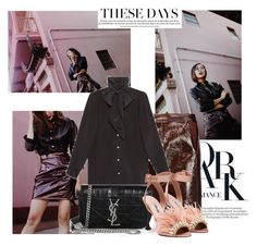 """""""Burgundy with Chriselle Lim..."""" by nfabjoy ❤ liked on Polyvore featuring Theory, Yves Saint Laurent, Gucci, Miu Miu, BloggerStyle, ChriselleLim and streetstye"""