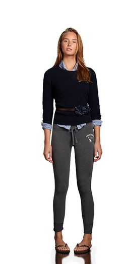 A&F perfect butt sweatpants outfit fall 2011.