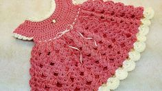 Learn How To #Crochet Strawberry Shortcake Baby Dress 0-6 months TUTORIAL #375 - YouTube