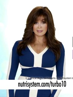 Marie Osmond in a hot dress for her NutriSystem commercial