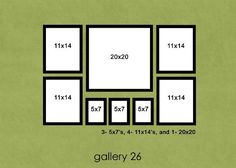 Possible layout for family wall collage Picture Arrangements, Photo Arrangement, Frame Arrangements, Wall Groupings, Picture Wall, Picture Frames, Picture Frame Sizes, Picture Shelves, Photowall Ideas
