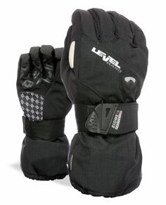 Level Half Pipe Protective Snowboard Gloves. I don't board without them. Saved my wrists twice that I know of...