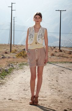 Riley Silk Vest and Ginny Silk Short  Club Monaco