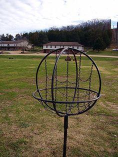 Very interesting disc golf basket.  #discgolf #frisbee