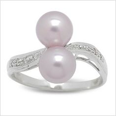 14K white gold Kamil Freshwater cultured pearl ring