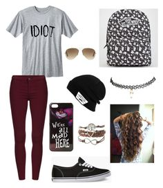 Going shopping by ashley1801 on Polyvore featuring polyvore, fashion, style, Wet Seal, Vans, Disney and Ray-Ban
