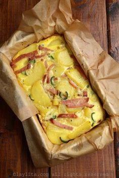 Tortilla española al horno