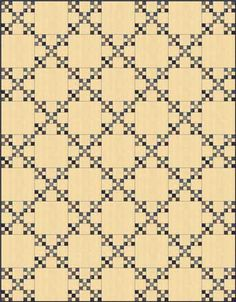 Double Nine Patch Quilt Block in a single Irish Chain