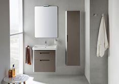 Meble łazienkowe z serii Dama-N marki Roca. Roca Bathroom, Bathroom Collections, Beautiful Bathrooms, Bubbles, Cabinet, Mirror, Storage, Interior, Furniture