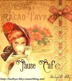 Vintage: Coffee break-Pause café-ladies