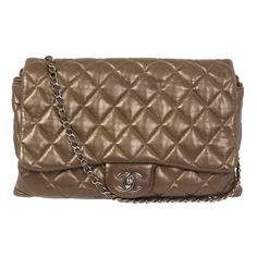 Chanel Brown Jumbo 2.55 Shoulderbag | From a collection of rare vintage handbags and purses at http://www.1stdibs.com/fashion/accessories/handbags-purses/