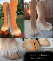 My attempt at a realistic pair of faun hoof boots