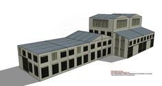 Innumerables combinaciones de fachadas y edificios de papel