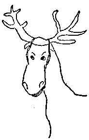 James Thurber horse-as-moose love the horse smile Horse Smiling, James Thurber, Life Of Walter Mitty, Fist Bump, The New Yorker, Authors, Moose, Smile, Illustrations