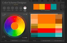Color Scheme Designer - a site that helps you pick out coordinating and matching colors for anything