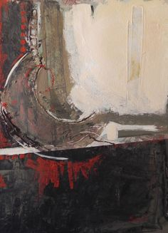 Bronze Quiver, by Nancy Bossert, abstract acrylic painting