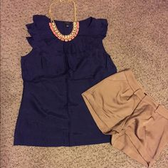 Ann Taylor blouse Ann Taylor blouse, 100% silk, size medium, color is blue purple very nice Ann Taylor Tops Blouses