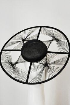 GeoMod Wide in Black by Suzy O'Rourke #millinery #judith #hats