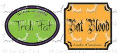 2 Labels ofThe Witch's Kitchen  Spooky Spices Digital Printable by MakeMeDigi, $2.50