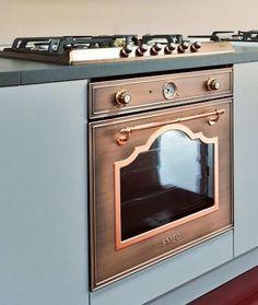 Kitchen Stove, New Kitchen, Kitchen Appliances, Kitchen Countertops, Copper Kitchen Aid, Copper Kitchen Accents, Copper Farmhouse Sinks, Home Decor Accessories, Home Decor