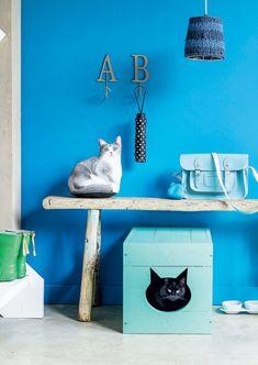Kattenbakkist  Kijk op www.101woonideeen.nl #tutorial #howto #diy #101woonideeen #kattenbakkist #cat