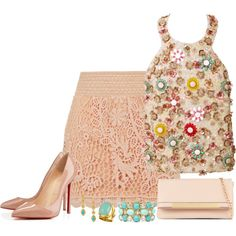"""♥""""Summer Pastels"""" Created by luluchella on Polyvore"""