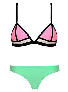 Komene bright diving suit sexy bikini set