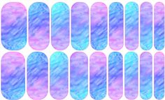 Watercolor Mosaic Jamberry Nail Art Studio: A beautiful blend of purples, blues and aqua!