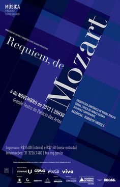 s 8 requiem de mozart  poster by juliana pedrosa