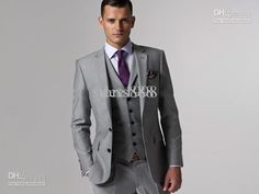 Wholesale Groom Tuxedos - Buy Groom Tuxedos Best Man Suit Wedding Groomsman/Men Suits Bridegroom Jacket+Pants+Tie+Vest MA572, $136.36 | DHgate