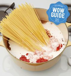 Delicious Spaghetti made in one pot! Try it once and you'll make spaghetti this way forever - it's so easy!
