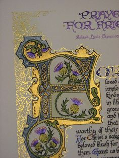 Caligrafía iluminada a medida  Comisión muestra  por angelworx