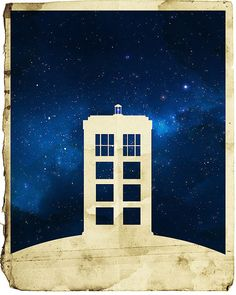 16x20 Dr Who Tardis Minimalist Poster by Area71 on Etsy, $24.95