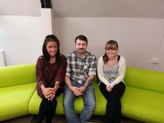 Apprentices, Abbi (Pricing), James (Accounting) and Jodie (Account Manager) @CUB_UK #madebyapprentices