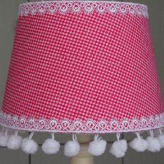 Pink handmade lampshade 20cm / Rhoon's Originals at Facebook
