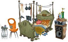 Granok Bed - Characters & Art - WildStar