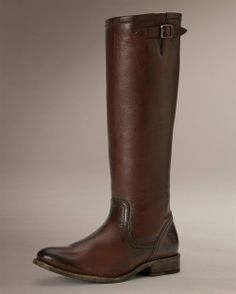 Pippa Back Zip Tall - View All Women's Boots - Western Boots, Riding Boots & More - The Frye Company, size 8 in dark brown