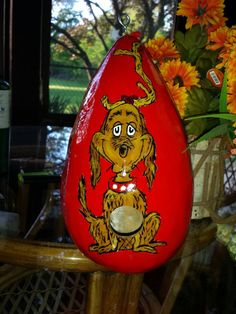 Hey, I found this really awesome Etsy listing at https://www.etsy.com/listing/117794328/birdhouse-gourd-grinch-hand-painted