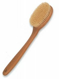 Bath Brush. These brushes have a large fixed quality bristle head on a superior solid wood handle. 	 $36.91