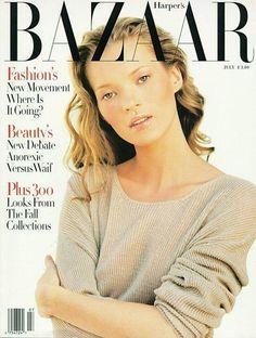 Harper's Bazaar US, July 1993 Photographer: Patrick Demarchelier. Model: Kate Moss.