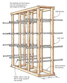 lumber storage rack plans - Google Search