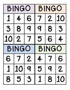 Bingo for Numbers Great for preschool number identification. Number Games Preschool, Teaching Numbers, Numbers Kindergarten, Preschool Learning Activities, Preschool Lessons, Kindergarten Activities, Teen Numbers, Numbers For Kids, Math Numbers