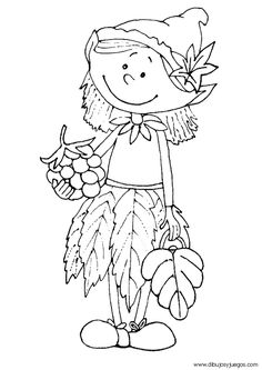 Art Drawings For Kids, Art For Kids, Colouring Pages, Coloring Books, Fall Crafts For Toddlers, Doodle People, Wal Art, Autumn Crafts, Fall Projects
