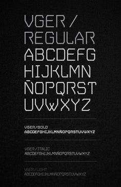 V.GER Grotesque by Mateo Rios, via Behance (FREE FONT)